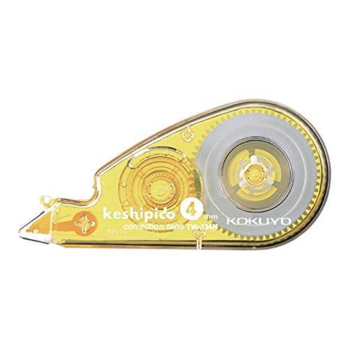 コクヨ 修正テープ ケシピコ 幅4mmx長さ10m 黄 TW-134N
