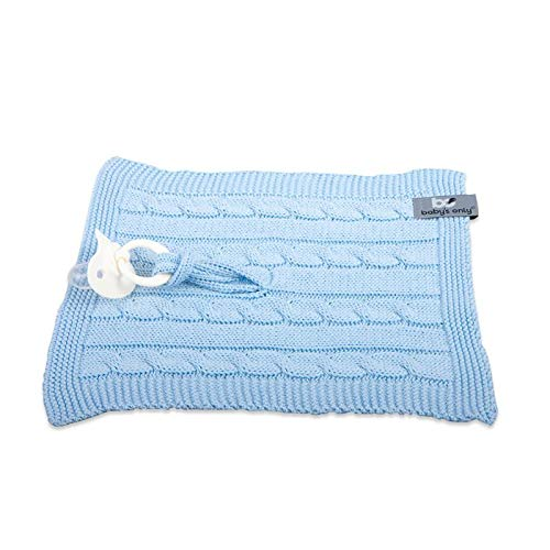 BO BABY'S ONLY - Schnullertuch Cable baby blau