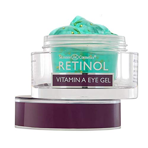 Retinol Vitamin A Eye Gel – Anti-Wrinkle Treatment Minimizes Signs of Aging, Puffiness & Dark Circles Around Eyes – Extra Boost of Retinol From Micro-Beads Restores Tone & Elasticity to Eye Area