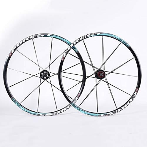 M-YN Juego Ruedas Bicicleta, Juego de Ruedas de montaña 26/27,5 Pulgadas de la Rueda de Bicicleta de Fibra de Carbono Conjunto del Cubo Delantero Trasero 2 5 Rodamientos