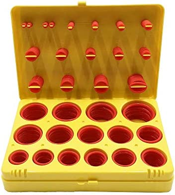 Silicone O Ring Kit 386pcs Metric MM 30 Size Seal Rings Assortment Set Red Metric product image