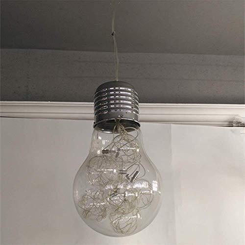 LIXDD Luminaire Suspendu Vintage Industriel Moderne de Barre de Mezzanine, Ampoules Vintage Edison Luminaire Suspendu plafonnier Luminaire 3 lumières avec Lustre en Verre Globe E27 (Taille : 1 tête)