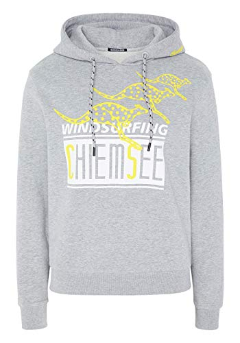 Chiemsee Sweatshirt mit Kapuze und großem Frontprint - GOTS Zertifiziert XS Neutr. Gray M