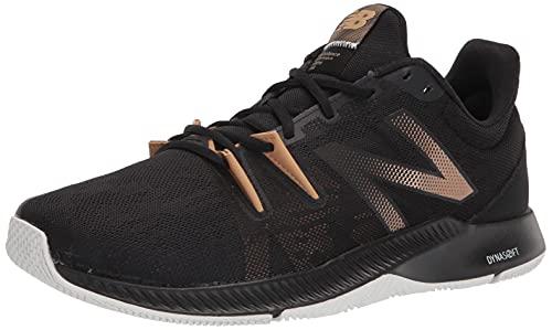 New Balance Men's Trnr V1 Cross Trainer, Black/Gold Metallic, 10
