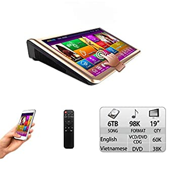 6TB HDD,98K Vietnamese+ English Songs 19   Touch Screen Karaoke Player Multilanguage Menu and Fast Search.
