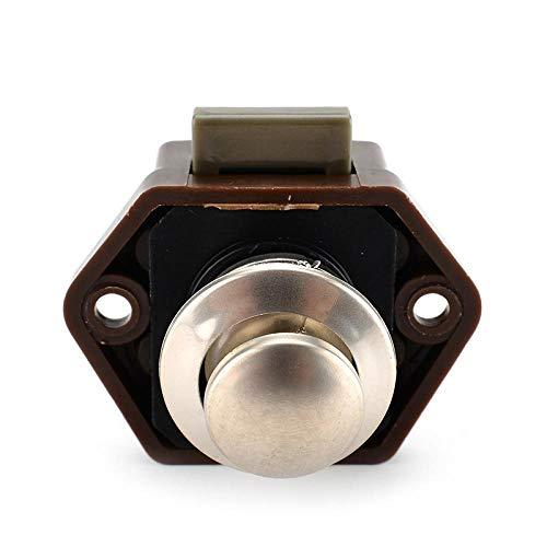 Camper Car Push Lock 20 mm diameter Rv caravan boot motor huis kast lade vergrendeling knoopsloten voor meubelhardware bruin