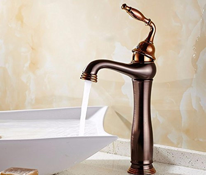 STAZSX Amerikanischen Stil Antik Kupfer Wasserhahn hei und kalt auf der beckenweite Waschtischmischer, B1