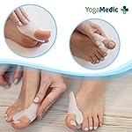 YogaMedic Hallux Valgus Correcteur d'orteils [6x] blanc en silicone de haute qualité – Très confortable – Taille Unique #2
