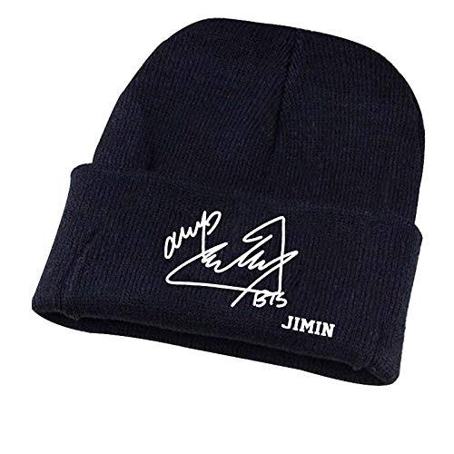 TJZY Unisex Knitted Beanie Hat Star Signature Cap Men