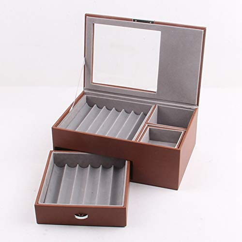 RONGXIANMA Jewelry Boxes Double-Layer Pencil Box, Leather Pencil Box, Pencil Box, Jewelry Box