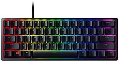 Razer Huntsman Mini Gaming Keyboard: Fastest Keyboard Switches Ever, Purple Switch (Clicky Optical Switches), Chroma RGB...