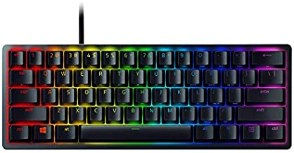 Razer Huntsman Mini 60% Gaming Keyboard: Fastest Keyboard Switches Ever - Clicky Optical Switches - Chroma RGB Lighting - PBT Keycaps - Onboard Memory - Classic Black