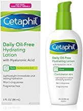 Cetaphil Face Moisturizer, Daily Oil-Free Hydrating Face Lotion with Hyaluronic Acid, 3 Fl Oz Package May Vary