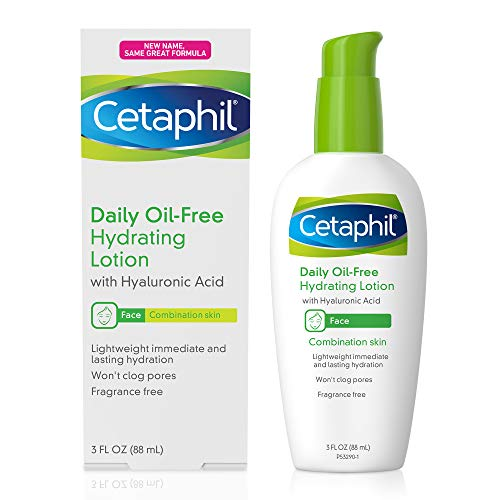 Cetaphil Face Moisturizer, Daily Oil-Free Hydrating Face Lotion with Hyaluronic Acid, 3 Oz Package...