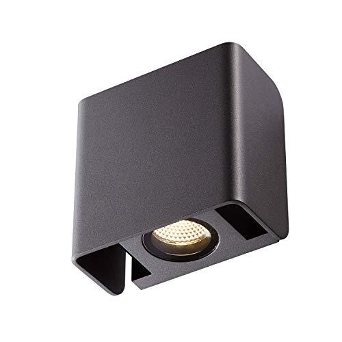 SLV LED Wandleuchte MANA OUT für die effektvolle Außenbeleuchtung von Hauseingang, Wänden, Wegen, Fassaden, Treppen   LED Wandlampe, Aussenleuchte, Gartenlampe   LED Inside, 12W, 3000K, 650lm, A-A++