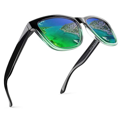 GQUEEN Polarisierte Sonnenbrille Herren Damen Klassische Unisex Retro Brille MSO7