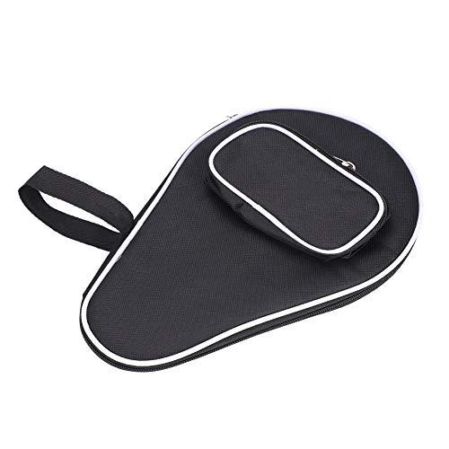 Estuche negro para raquetas de tenis de mesa, muñequera práctica de tela Oxford Estuche para paletas Pong de 30 x 20 x 2 cm