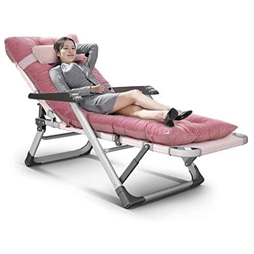 FTFTO Haushaltsprodukte Schwerelose Stühle Klappbare gepolsterte Liegen Hochleistungsmenschen Sonnenliegen Garden Beach Lounge Chair mit dickem Kissen