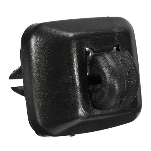 NICOLIE Soporte De Clip De Suspensión para Visera Interior 8E0857562A 8E0857562 Compatible con Audi A1 A3 A4 A5 Q3 Q5 2013-2015 - Negro