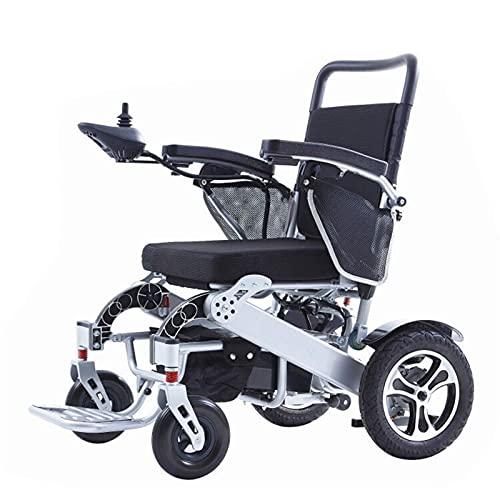 LFLLFLLFL Elektrorollstuhl, Faltbarer Rollstuhl Luxus-elektrischer Rollstuhl Mit Sitzgut-tragbarer 500W Bürstenloser Nabenmotor Ultraschneller Ladung Lithium-Batterie Aluminiumlegierungs-Faltgewicht