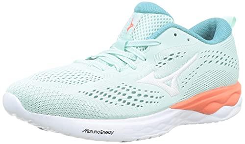 Mizuno Wave Revolt, Zapatillas de Running Mujer, FairAqua/White/LCoral, 39 EU