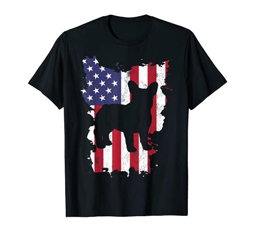 Frenchie Shirt USA Flag 4th of July French Bulldog T-Shirt