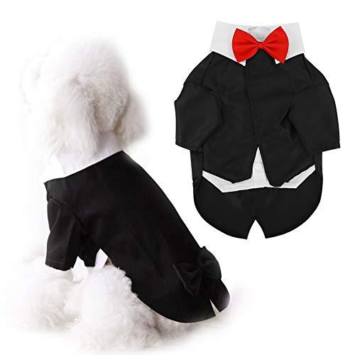 Traje de fiesta de boda formal de esmoquin para perros, traje de corbata de moño para mascotas Traje de…