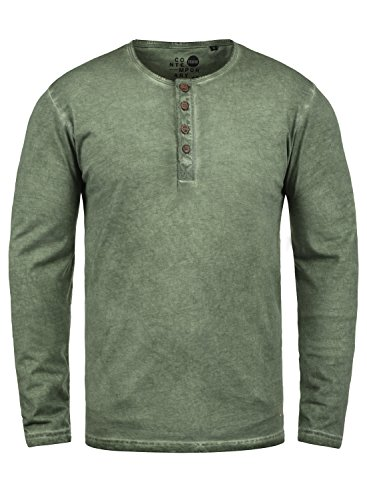 !Solid Timur Herren Longsleeve Langarmshirt Shirt Mit Grandad-Ausschnitt Und Brusttasche Aus 100{ef5fc8313fe029a801e7c82b3b7e19d0d512e2a1f8eea55d30f65da2479e8f76} Baumwolle, Größe:XL, Farbe:Climb Ivy (3785)