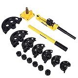 Curvadora de tubos manual universal para curvar tubos de 10 a 25 mm de diámetro.