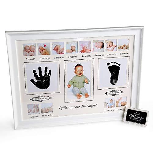 Kit de Huella, BelleStyle Kit de Marco Para Manos y Huellas de Bebé para Niño y Niña, Footprint, Handprint con Marcos de Fotos para Bebe Recien Nacido, Regalos Originales para Mujer, Familiares, Baby