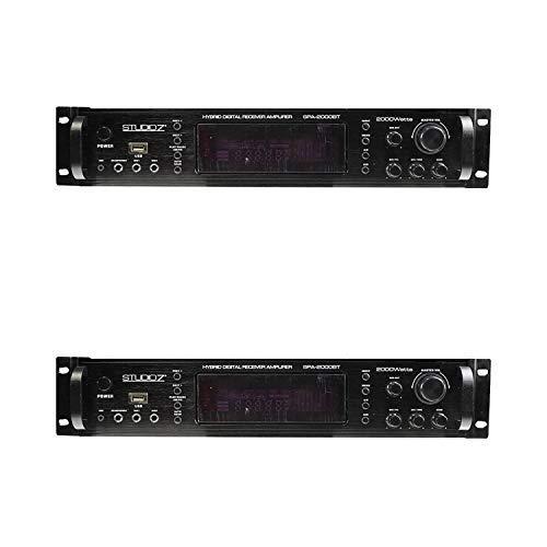Fantastic Prices! Studio Z 2 x SPA-2000BT 2000 Watt Digital Home Audio Sound System Hybrid Bluetooth...