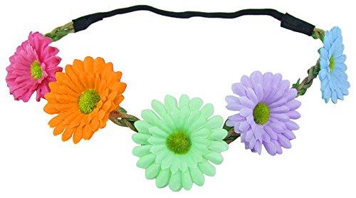 Das Kostümland Blumen Haarband mit Margeriten - Bunt