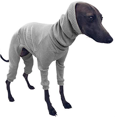 DHGTEP Abrigos para Perro Lana Onesie Jumper con Cuatro Patas Suéter del Perro del Animal Doméstico de Algodón Ropa para el Cachorro Pequeño Medio Perro Grande (Color : Gray, Size : 5XL)
