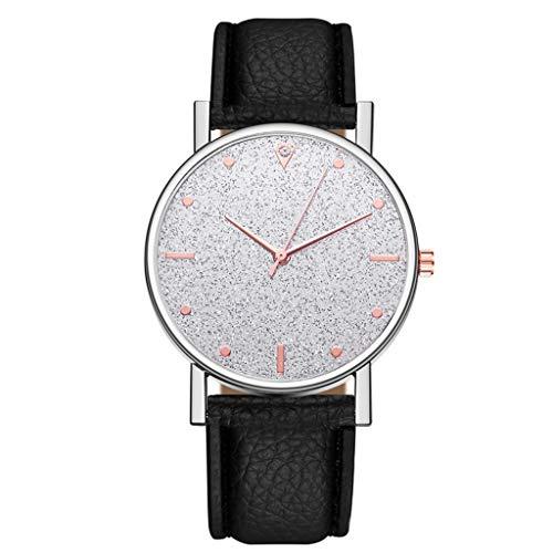 LIHAEI Esprit Damen Uhren Analog Armbanduhr Quartz Mit Leder Armband,1 Cent Artikel Armbanduhr Frauen Rosegold Esprit |Quarzwerk | 23.5mm Bandbreite (Grau)