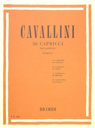 30 CAPRICCI - arrangiert für Klarinette [Noten / Sheetmusic] Komponist: CAVALLINI ERNESTO