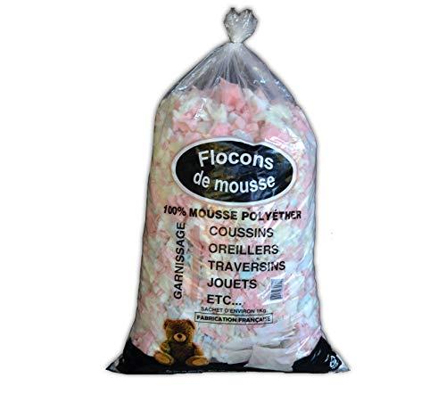 Sac de mousse floconnée polyéther pour rembourrage 1kg - 50L