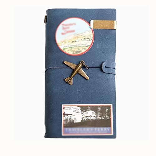 SFF Cuadernos de Oficina Libreta A5 renglón Ancho Hardcover Escritura portátil de la PU de la Vendimia de Cuero for Viajes Muchachos de Las niñas con una Cuerda for el Cierre Cuaderno de Tapa Blanda