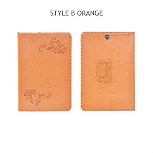XXIUYHU Flip Case Für Hp Pro Tablet 608 G1 Magnetabdeckung Ständer Halter Pu Ledertasche Für Hp Pro Tablet 608 G1 Z8500 7.9 '' Tablet HülleStyle B Orange