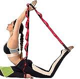M.xiao 4pcs Stretch striple, Correa Estirada de Yoga, Correa Estirada no elástica para Estiramiento, Terapia física, Pilates, Danza, Gimnasia y Entrenadores atléticos con Bolsa de Transporte