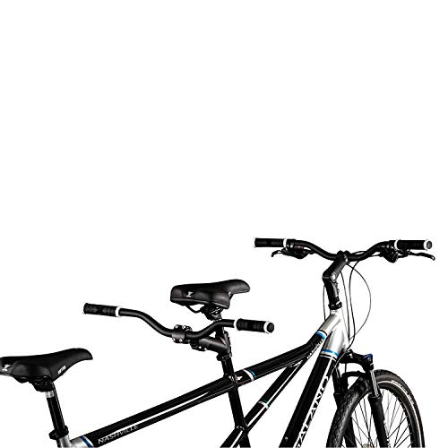 Galano Tandem Fahrrad 26 Zoll Mountainbike Nashville 24Gang MTB Hardtail Fahrrad (schwarz/grau, 53/46 cm) - 6