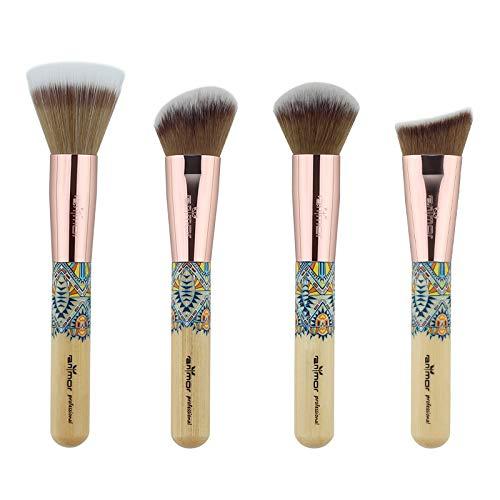 LSWL Maquillage Brosses 12PCS Maquillage professionnel Pinceau synthétique cheveux beauté fard à paupières Set Fondation Cosmétique Poudre Outils Kit (Color : 4PCS)