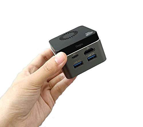 Ovegna MN7: Micro PC Intel Celeron QuadCore, 8 GB LPDDR4, 128 GB SSD mSATA, HD Graphics 600, WiFi, Bluetooth, HDMI 4K, MicroSD, 64Bits (128 GB SSD, Android X86)