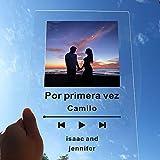 Marco de fotos de acrílico personalizado para regalo de compromiso, tamaño mini polaroid, acrílico con aspecto de cristal, para parejas, propuestas, marco de fotos de acrílico personalizado