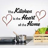 Adesivo da parete con citazione in cucina con cuori citazioni decorazione in vinile per camera d'amore famiglia casa muri immagini regole stencil decorazioni a cuore accessori per finestre frigo