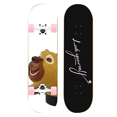 Comics Bear Skateboards Comics Long Board Scooter Niños Seven-Layer Maple Plank 31''x 8 '' Complete Cruiser Boards Personalización