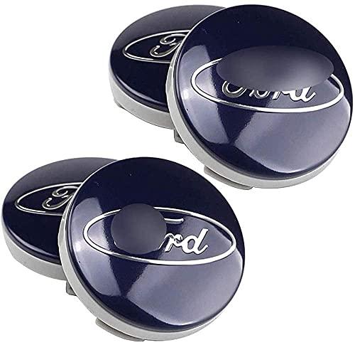 4 Piezas Coche Centro De Rueda Tapas centrales para Ford Fiesta Mondeo 54mm, Rueda Emblema Logo Insignia Llantas centrales Emblema Accesorios