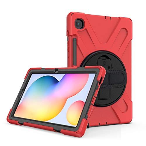 Xyamzhnn Caja de la Tableta, para Samsung Galaxy Tab S6 Lite P610 a Prueba de Golpes Colorido Silicona + PC Funda Protectora con Soporte y Correa de Hombro y Correa de Mano y Ranura de la Pluma