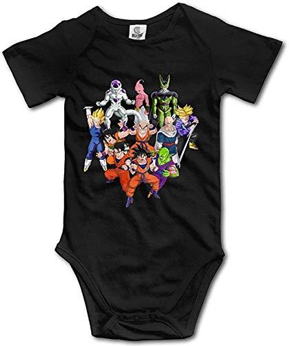 Babys Dragon Ball Z hängende Bodysuit Strampler Outfits Kleidung Klettern Kleidung Kurzarm