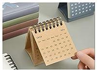 カレンダー 2021年 デスクカレンダー2020日記2021ノーズデードプランナーワークトップテーブルタイムテーブルノートブックミニポータブルカレンディオームスクール事務用品 2021年 (Color : Dark Khaki)