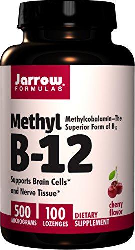 Jarrow Formulas Methyl B-12, 500Mcg - 100 Lozenges - 100 Cápsulas